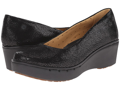 Clarks - Un Estie (Black Interest Suede) Women's Shoes