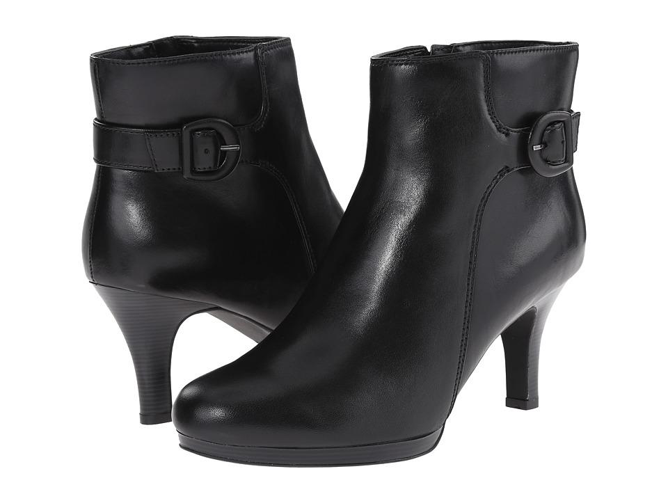 Clarks - Tempt Althea (Black Leather) Women's Shoes