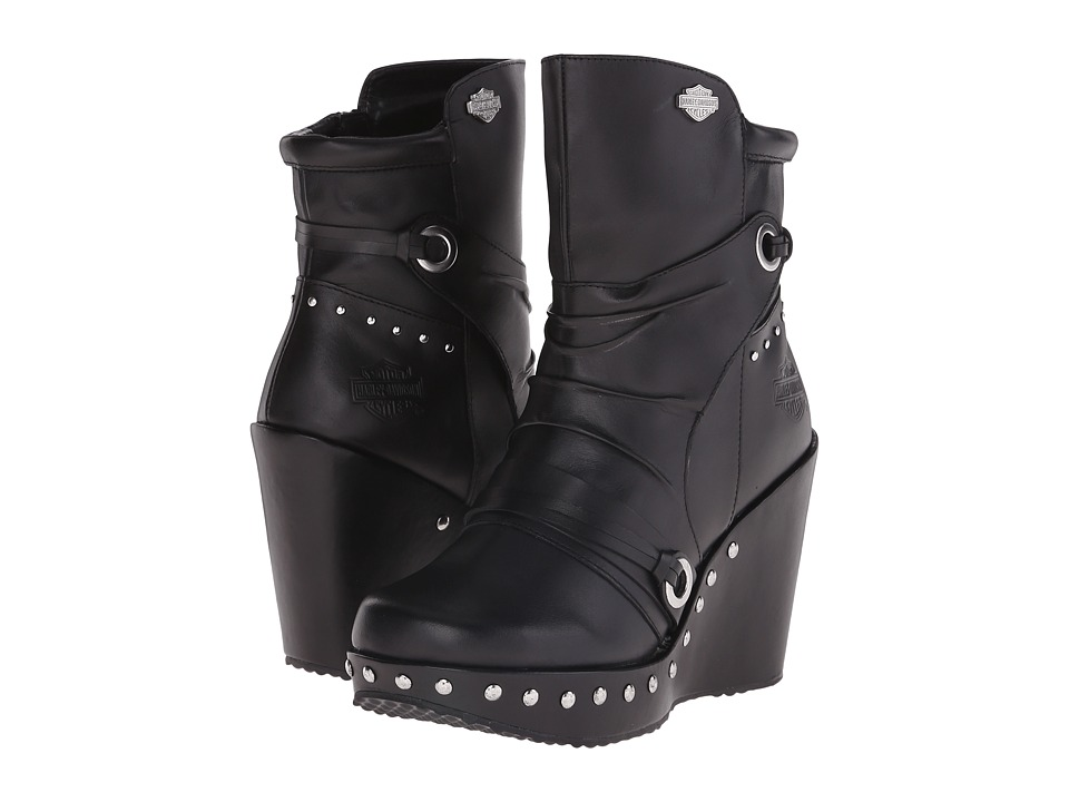 Harley-Davidson - Kendra (Black) Women's Dress Pull-on Boots