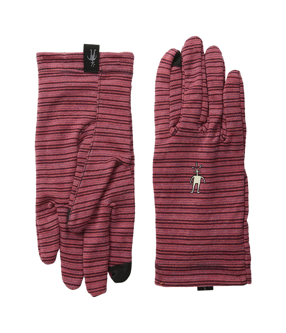 Smartwool - NTS Mid 250 Pattern Glove (Aubergine Heather) Liner Gloves