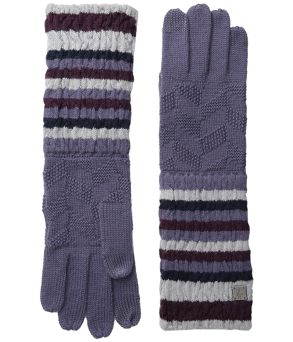 Smartwool Striped Chevron Glove (Desert Purple) Wool Gloves