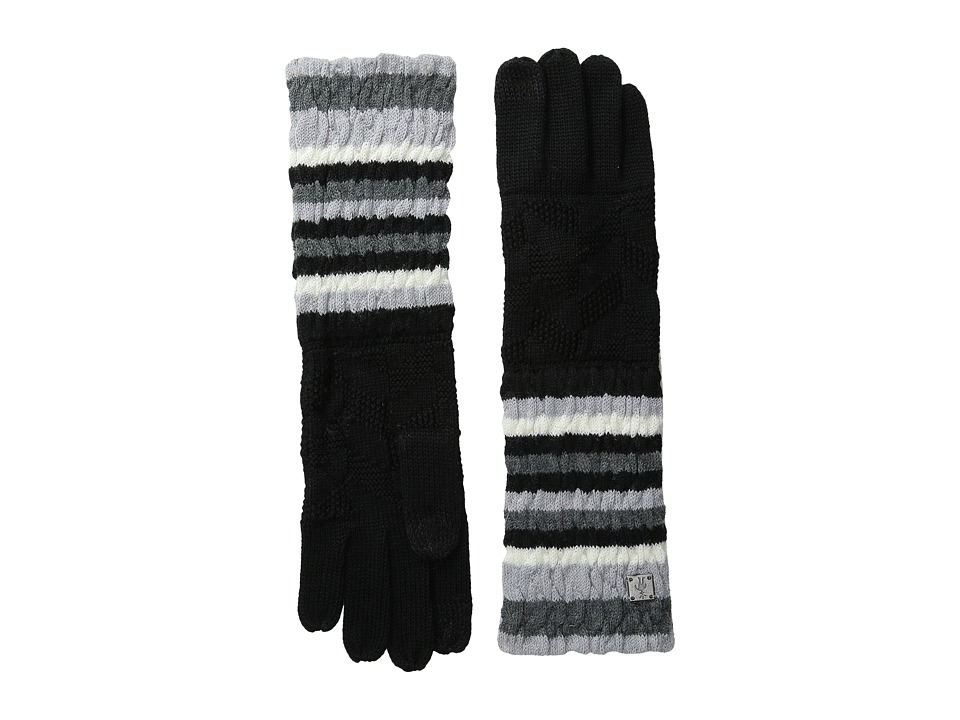 Smartwool Striped Chevron Glove (Black) Wool Gloves