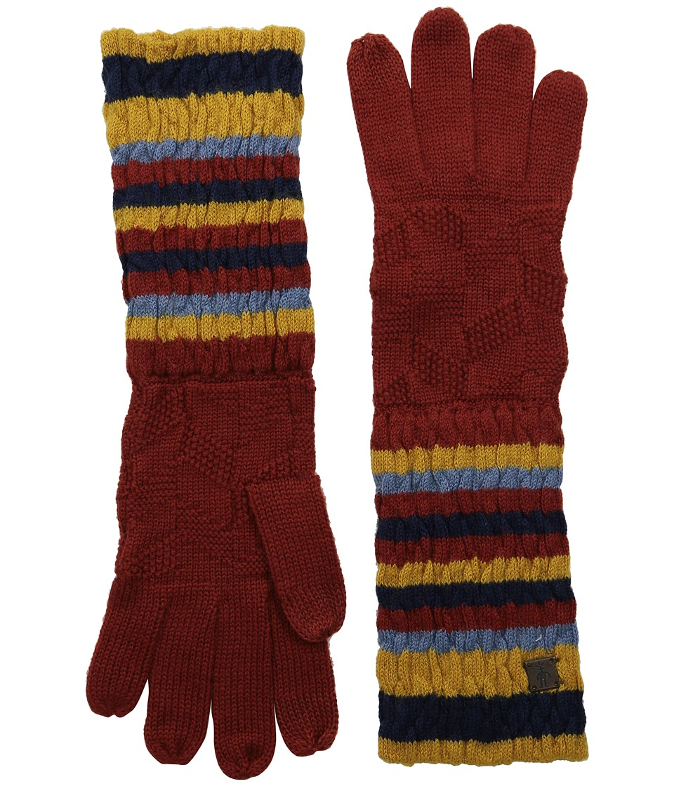 Smartwool - Striped Chevron Glove (Moab Rust) Wool Gloves