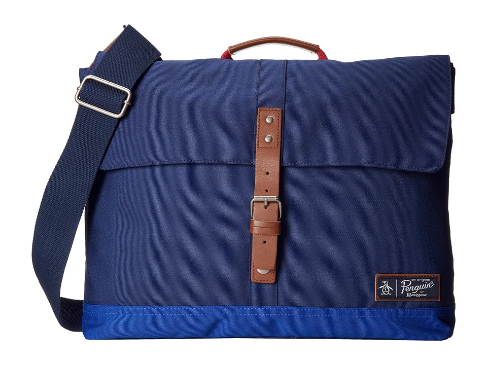 Original Penguin - East/West Messenger (Dress Blues) Messenger Bags