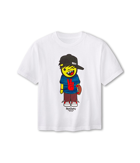Neff Kids - Skatebort Tee (Big Kids) (White) Boy's T Shirt