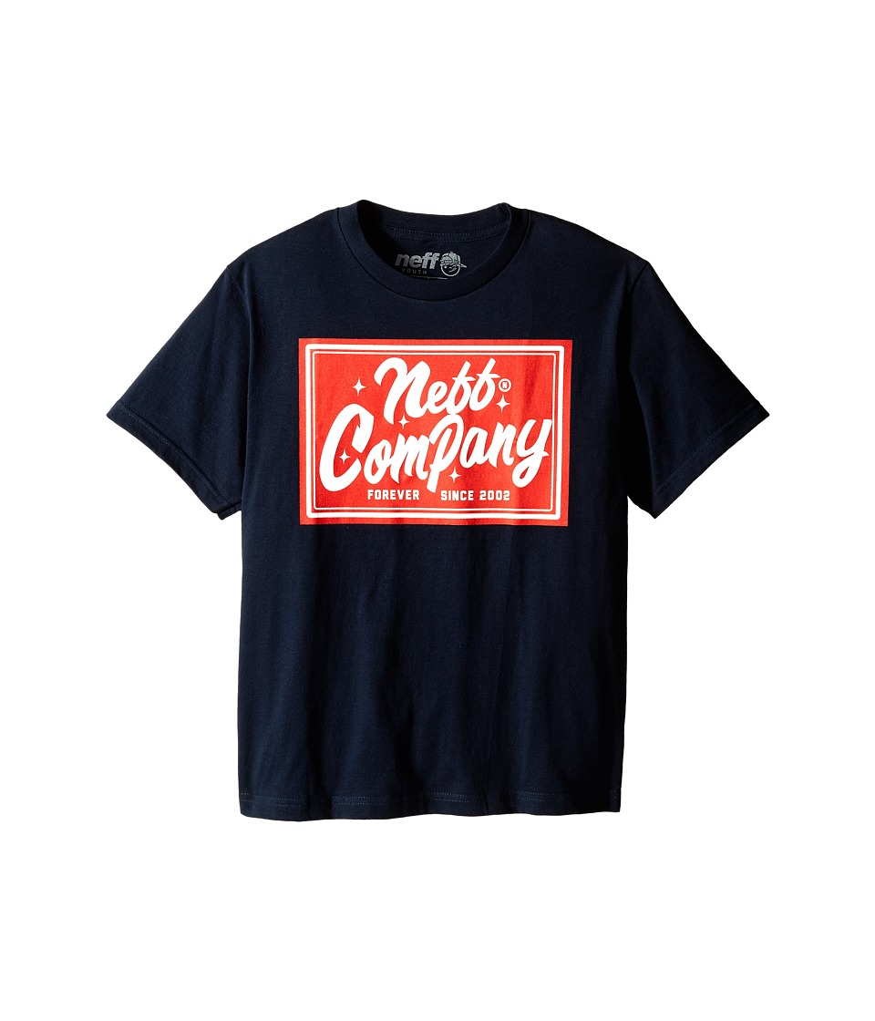Neff Kids - Glitz Tee (Big Kids) (Navy) Boy's T Shirt