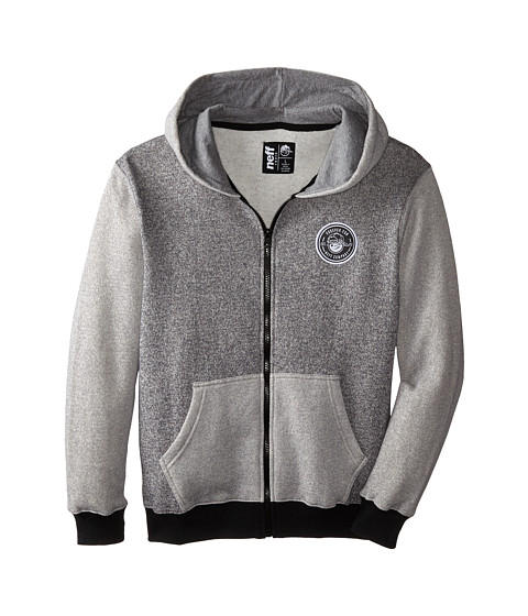 Neff Kids - Daily Zip Hoodie (Big Kids) (Grey) Boy