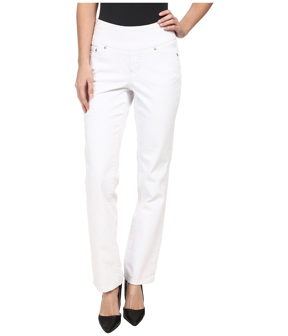 Jag Jeans - Peri Pull-On Straight Leg in White (White) Women's Jeans