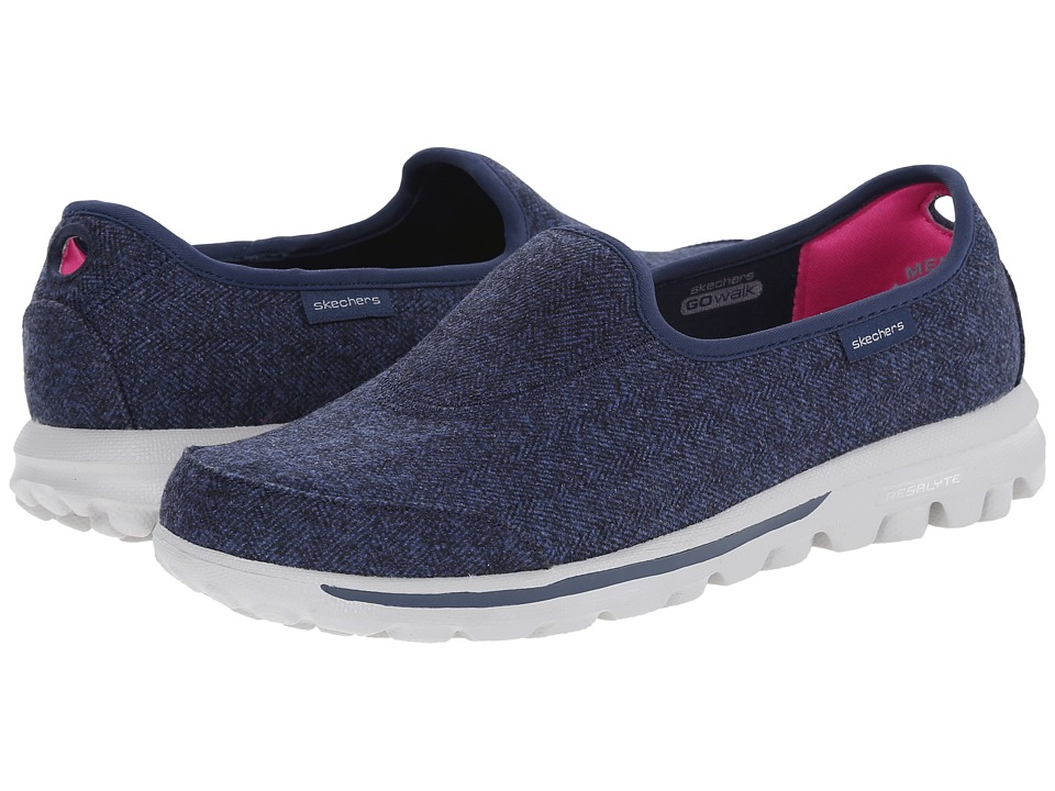 SKECHERS Performance - Go Walk - Affix (Navy) Women's Slip on Shoes