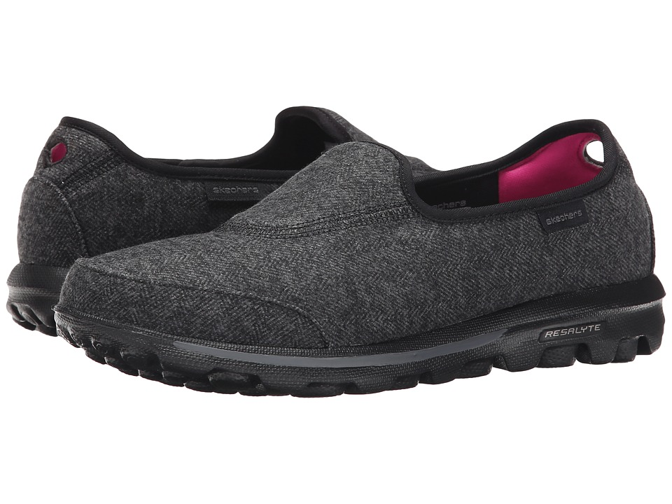 SKECHERS Performance - Go Walk - Affix (Black) Women's Slip on Shoes
