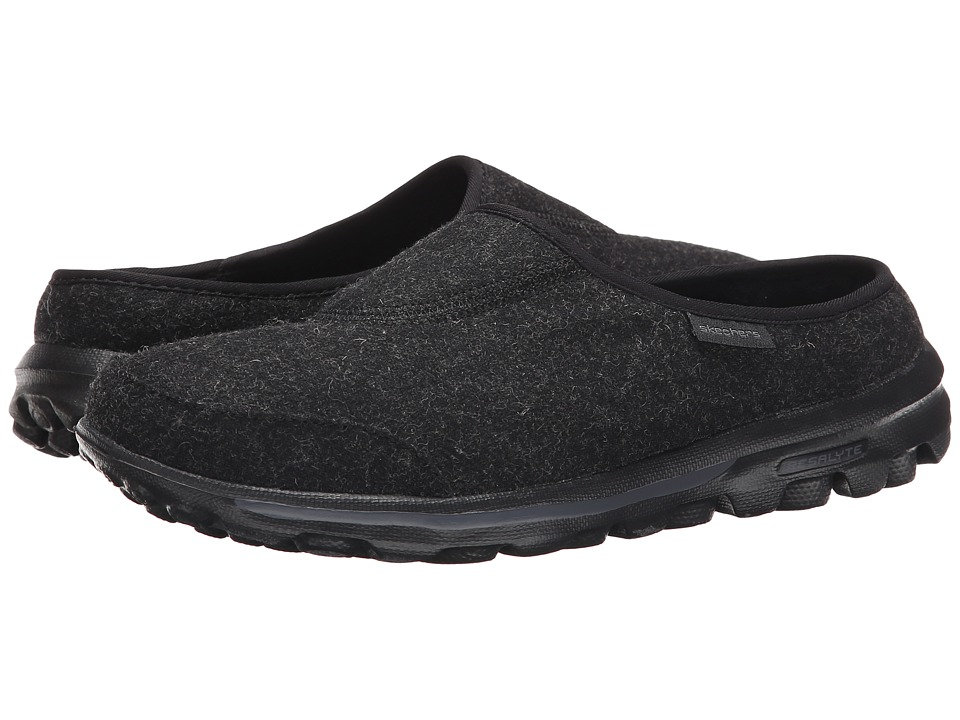 SKECHERS Performance - Go Walk - Patch (Black) Women's Slip on Shoes