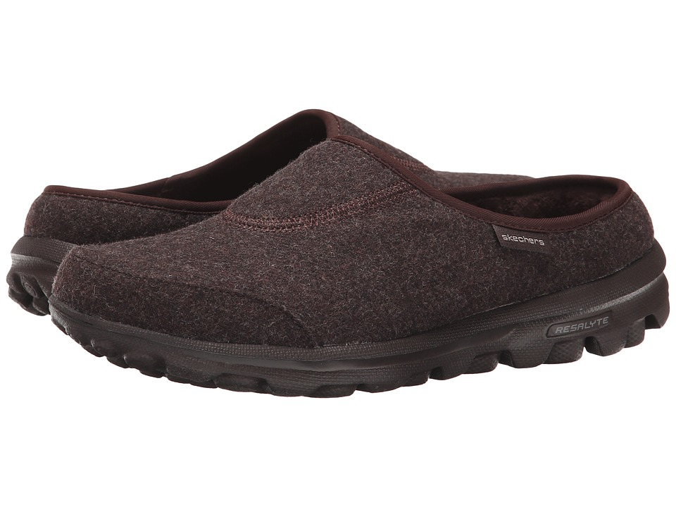 SKECHERS Performance - Go Walk - Patch (Chocolate) Women's Slip on Shoes
