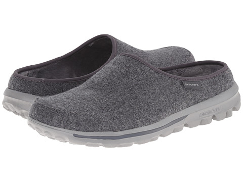SKECHERS Performance - Go Walk - Patch (Charcoal) Women's Slip on Shoes