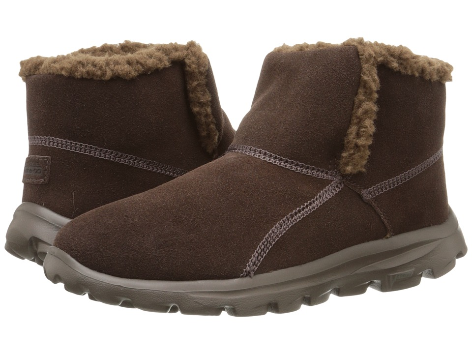 SKECHERS Performance - Go Walk Move - Chugga Imprint (Chocolate) Women's Boots