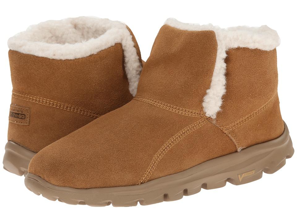 SKECHERS Performance - Go Walk Move - Chugga Imprint (Chestnut) Women's Boots