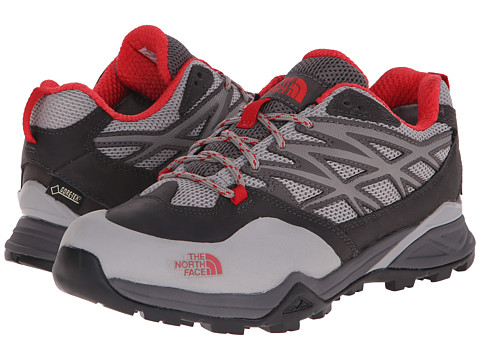 The North Face - Hedgehog Hike GTX (Dark Gull Grey/Tomato Red) Women's Cross Training Shoes