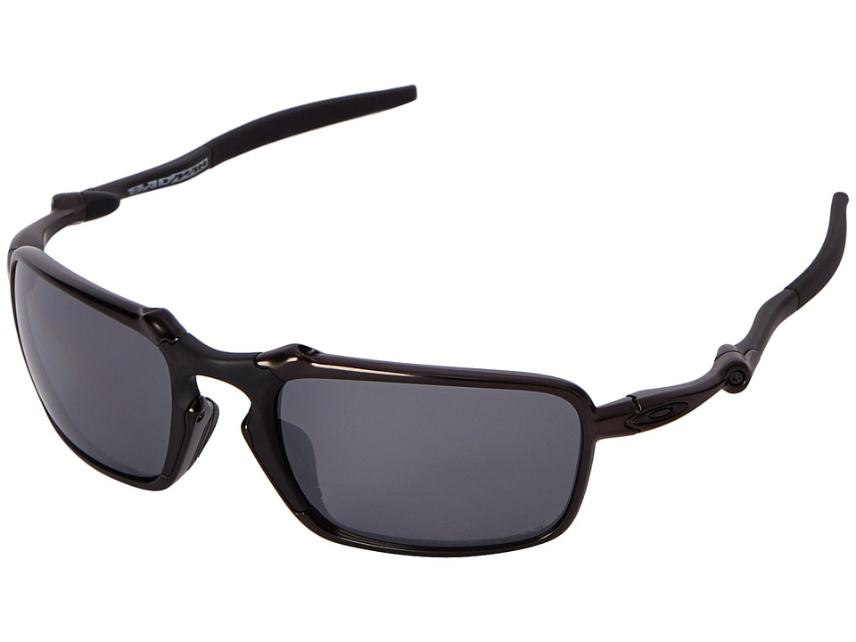 Oakley - Badman (Dark Carbon/Black Iridium Polarized) Sport Sunglasses