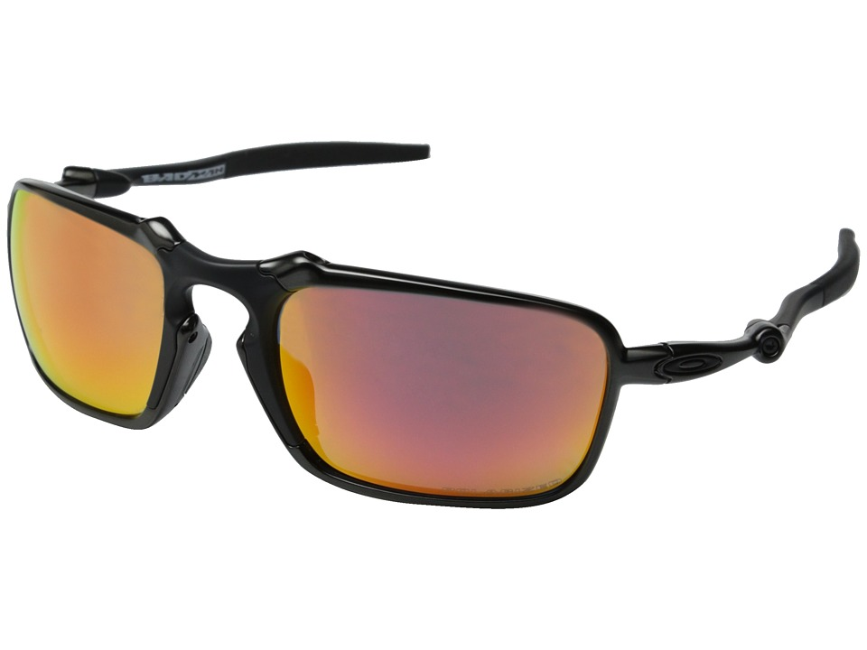 Oakley - Badman (Dark Carbon/Ruby Iridium Polarized) Sport Sunglasses