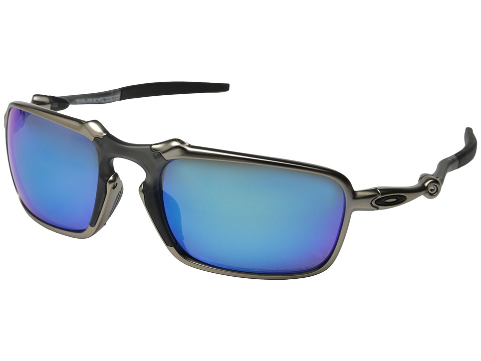 Oakley - Badman (Plasma/Sapphire Iridium Polarized) Sport Sunglasses
