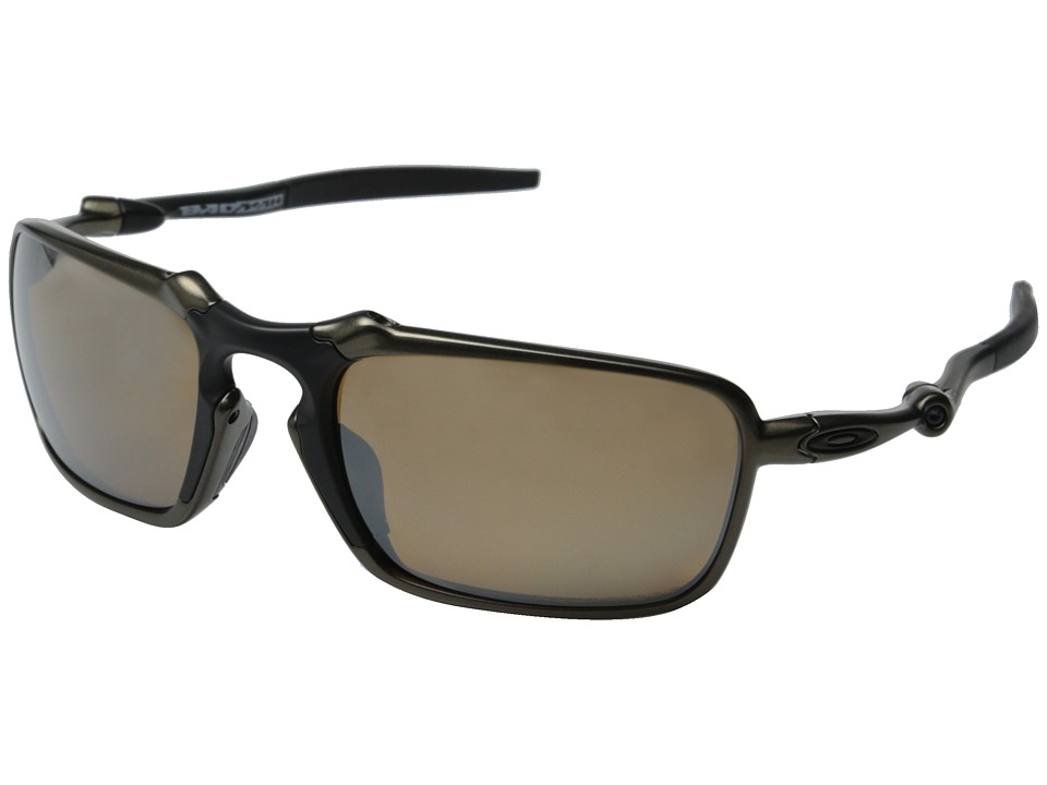 Oakley - Badman (Pewter/Tungsten Iridium Polarized) Sport Sunglasses