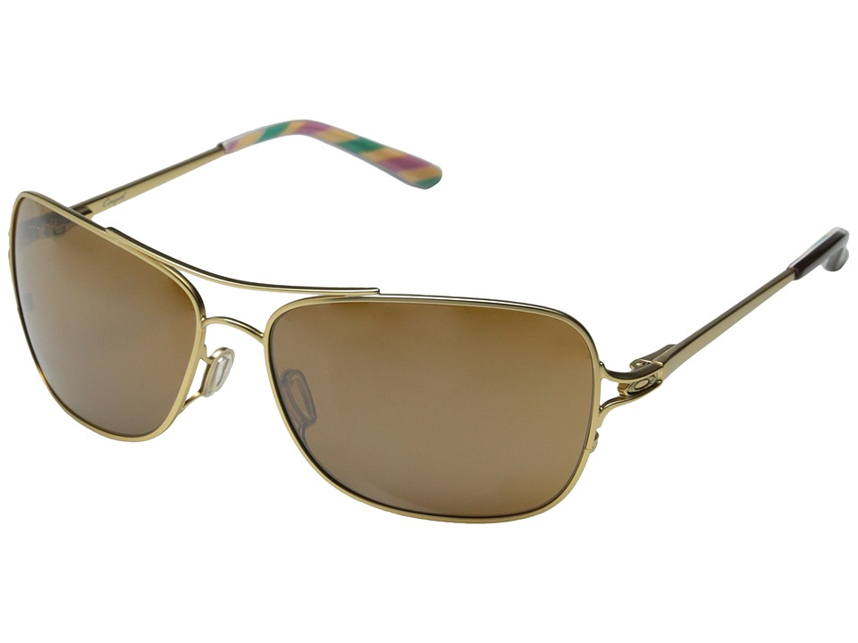 Oakley - Conquest (Gold Satin/Tungsten Iridium) Sport Sunglasses