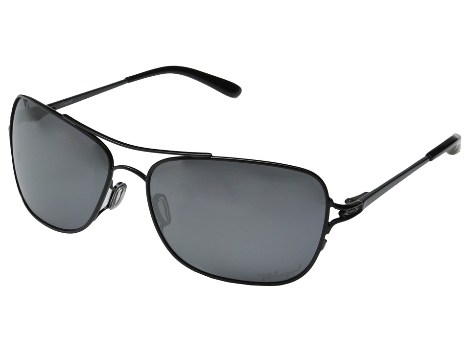Oakley - Conquest (Polished Black/Black Iridium Polarized) Sport Sunglasses