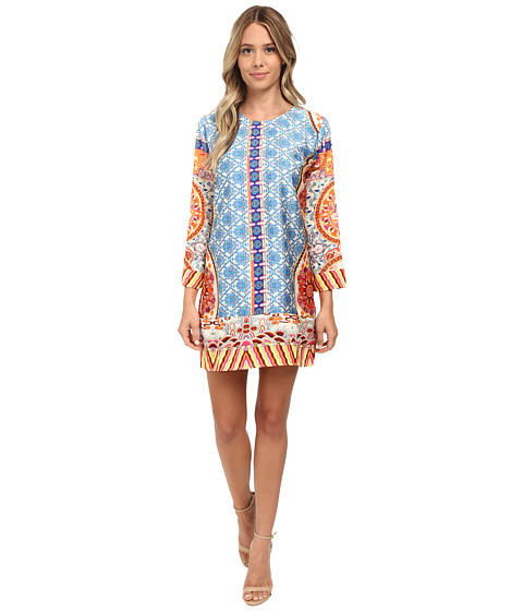 KAS New York - Sharis Printed Tunic Dress (Multi) Women's Dress