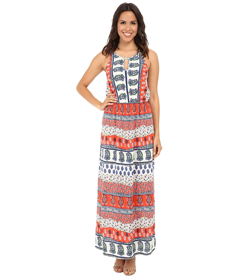 KAS New York - Annabel Printed Keyhole Maxi Dress (Multi) Women's Dress