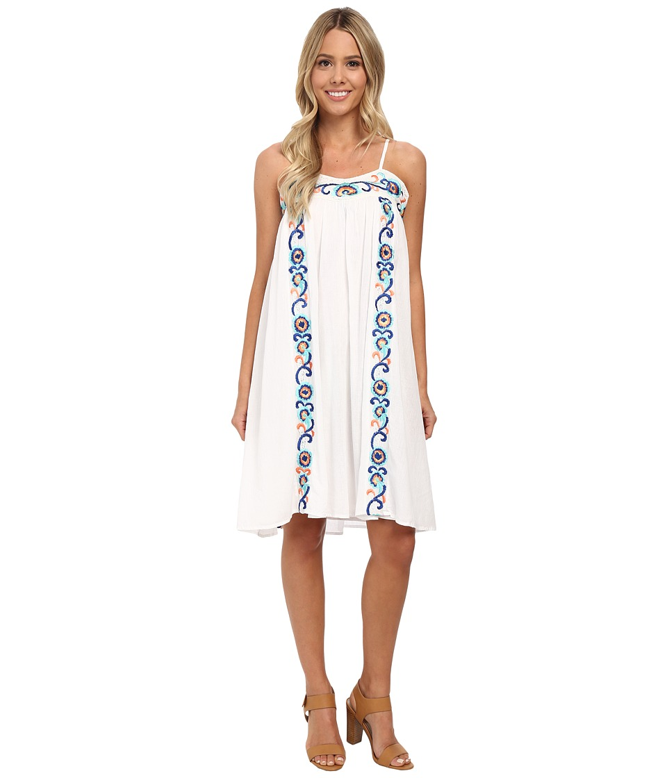 KAS New York - Cruzita Embroidered Swing Dress (White) Women's Dress