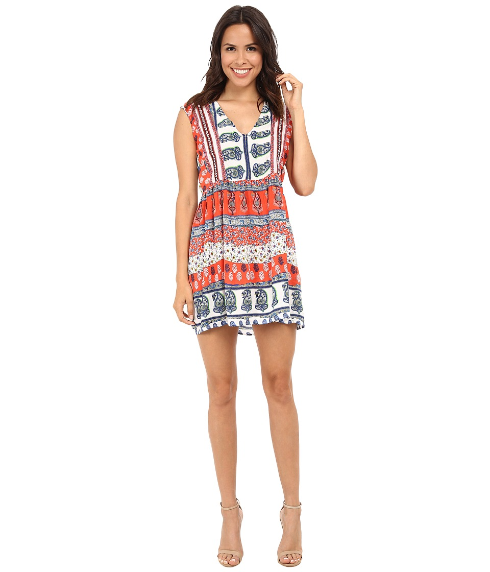 KAS New York - Karna Pleated Printed Dress (Multi) Women's Dress