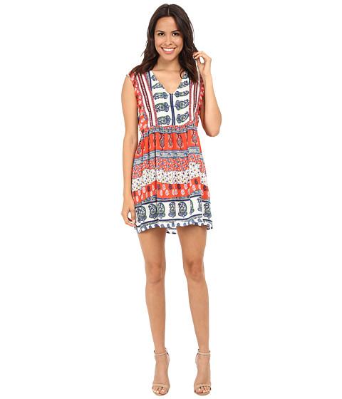 KAS New York - Karna Pleated Printed Dress (Multi) Women's Dress