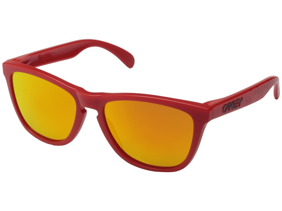 Oakley - Frogskins (Red/Fire Iridium) Sport Sunglasses