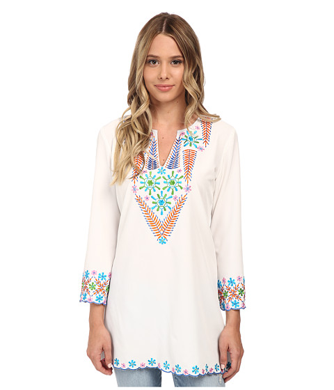 KAS New York - Sanjay Embroidered Tunic (White) Women