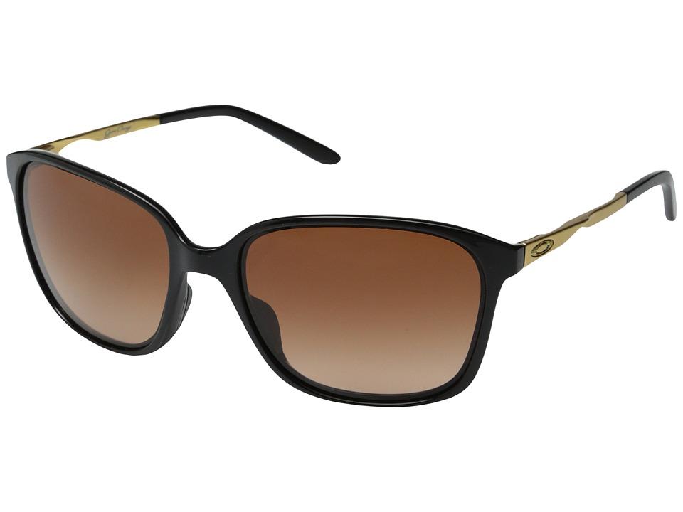 Oakley - Game Changer (Polished Black/VR50 Brown Gradient) Sport Sunglasses