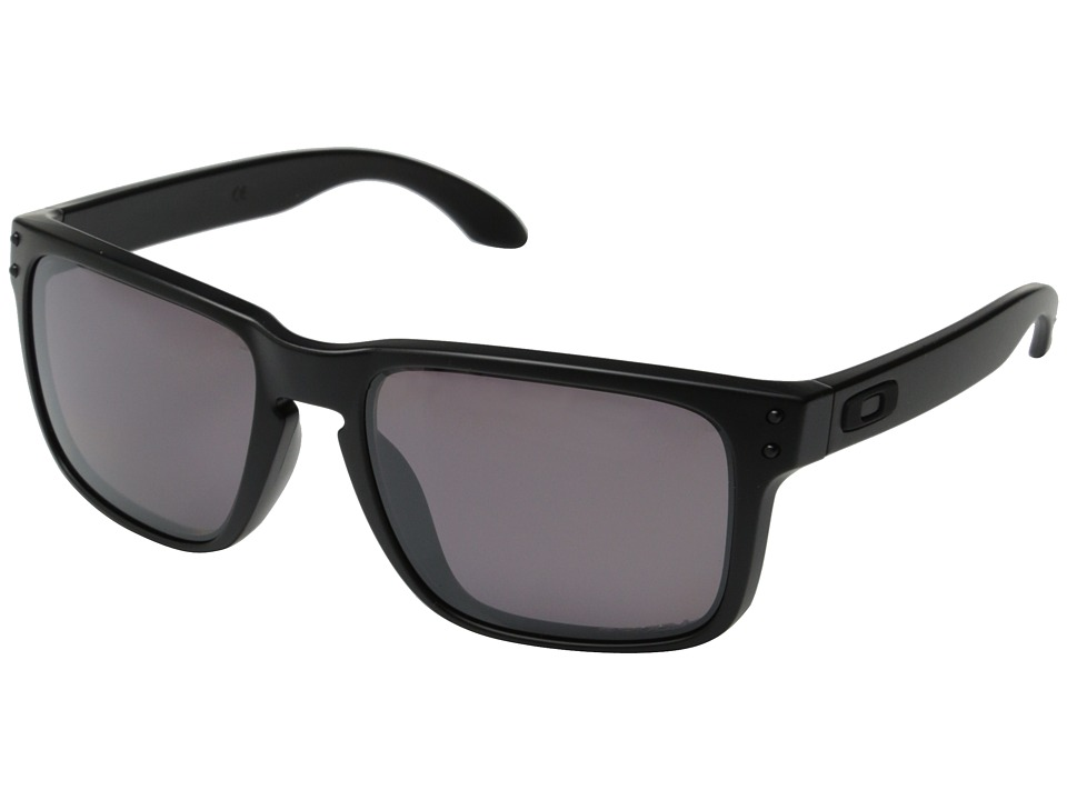 Oakley - Holbrook (Metallic Black/Black Iridium Polarized) Sport Sunglasses