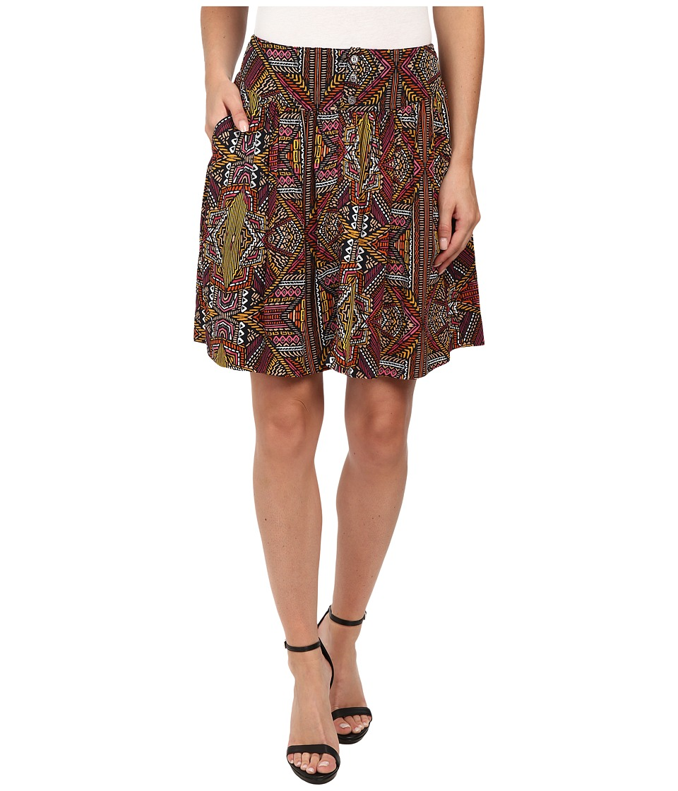 TWO by Vince Camuto - Tribal Beats Western Mini Skirt (Rich Black) Women's Skirt
