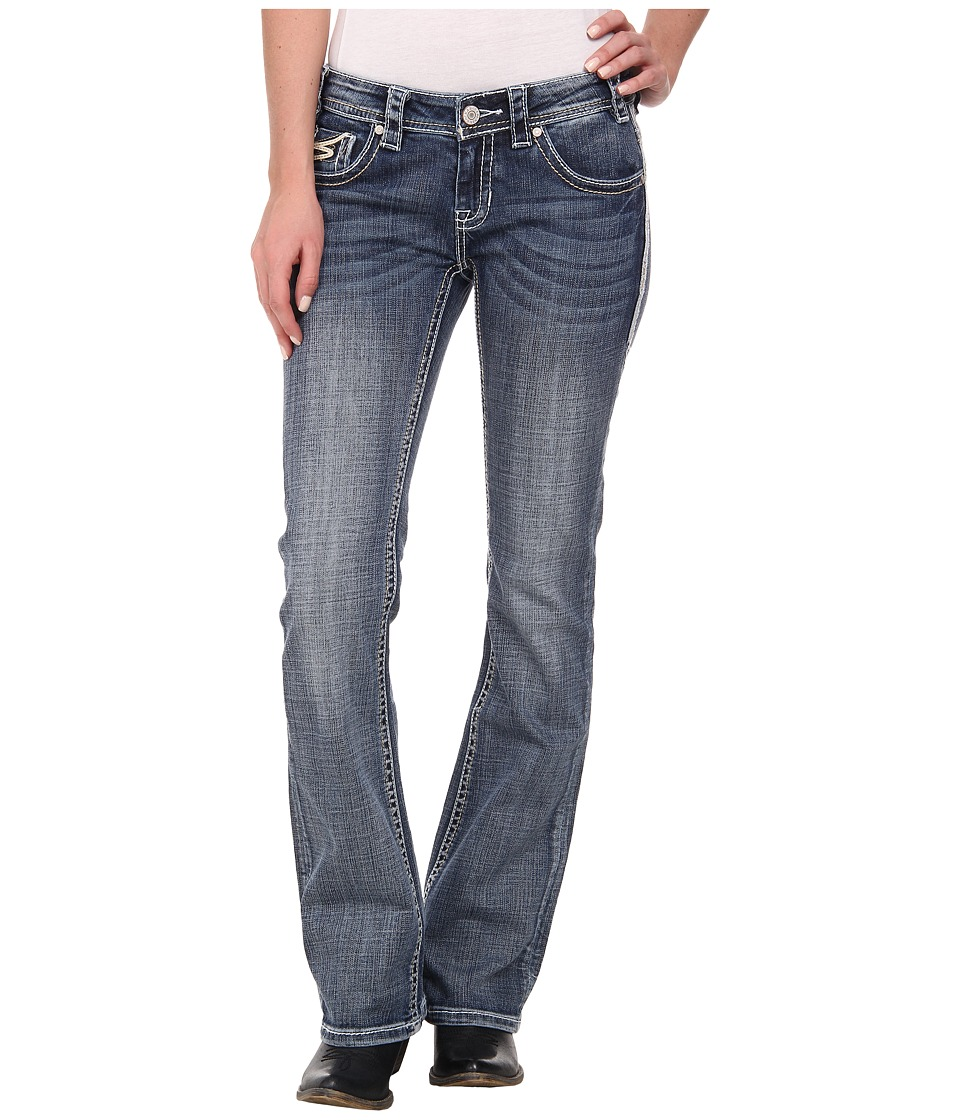 Rock and Roll Cowgirl - Low Rise Bootcut in Medium Vintage W6-2452 (Medium Vintage) Women