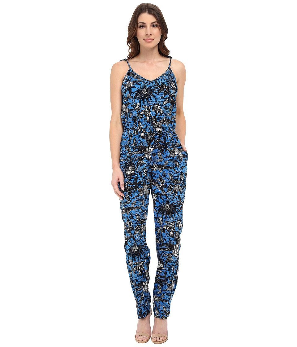 TWO by Vince Camuto - Tie-Strap Jungle Escape Jumpsuit (Atlas Blue) Women