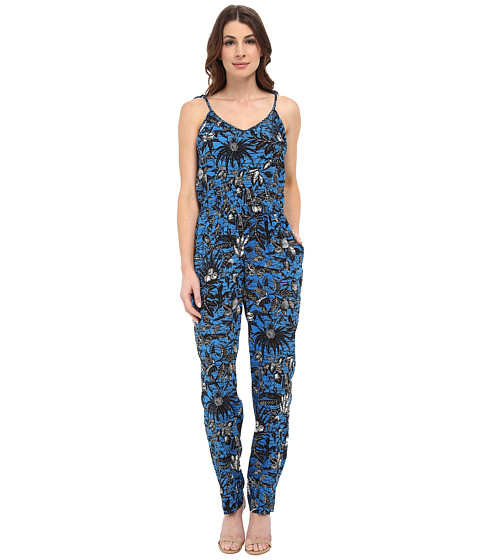 TWO by Vince Camuto - Tie-Strap Jungle Escape Jumpsuit (Atlas Blue) Women's Jumpsuit & Rompers One Piece