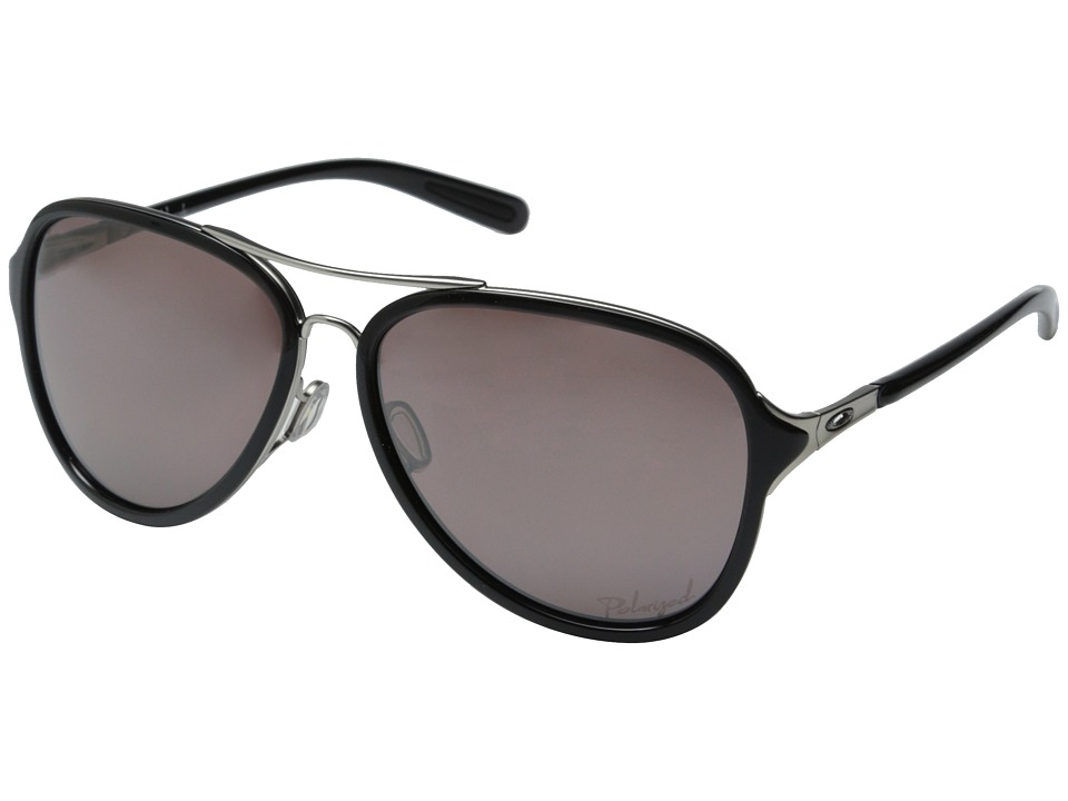 Oakley Kickback (Satin Chrome/OO Black Iridium Polarized)...