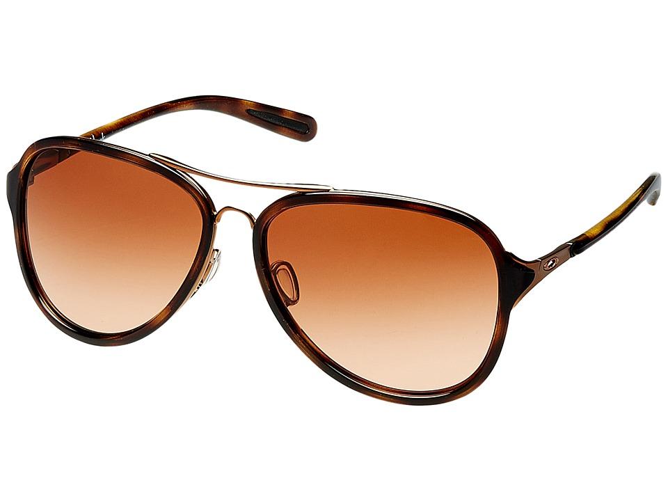 Oakley - Kickback (Satin Rose Gold/VR50 Brown Gradient) Sport Sunglasses