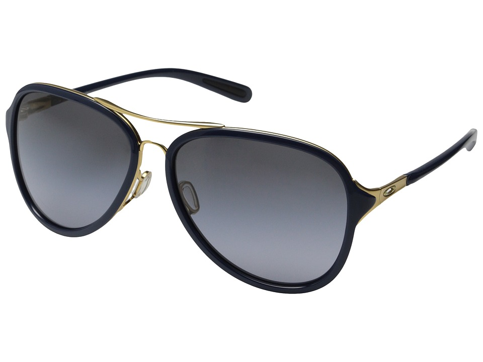 Oakley - Kickback (Gold Satin/Navy/Black Grey Gradient) Sport Sunglasses