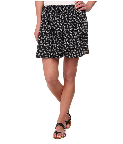 TWO by Vince Camuto - Pineapple Stamps Wrap Skort (Rich Black) Women