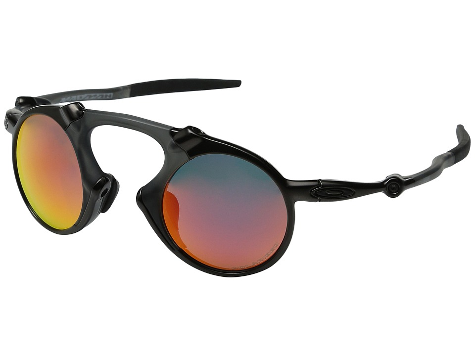 Oakley - Madman (Dark Carbon/Ruby Iridium Polarized) Sport Sunglasses
