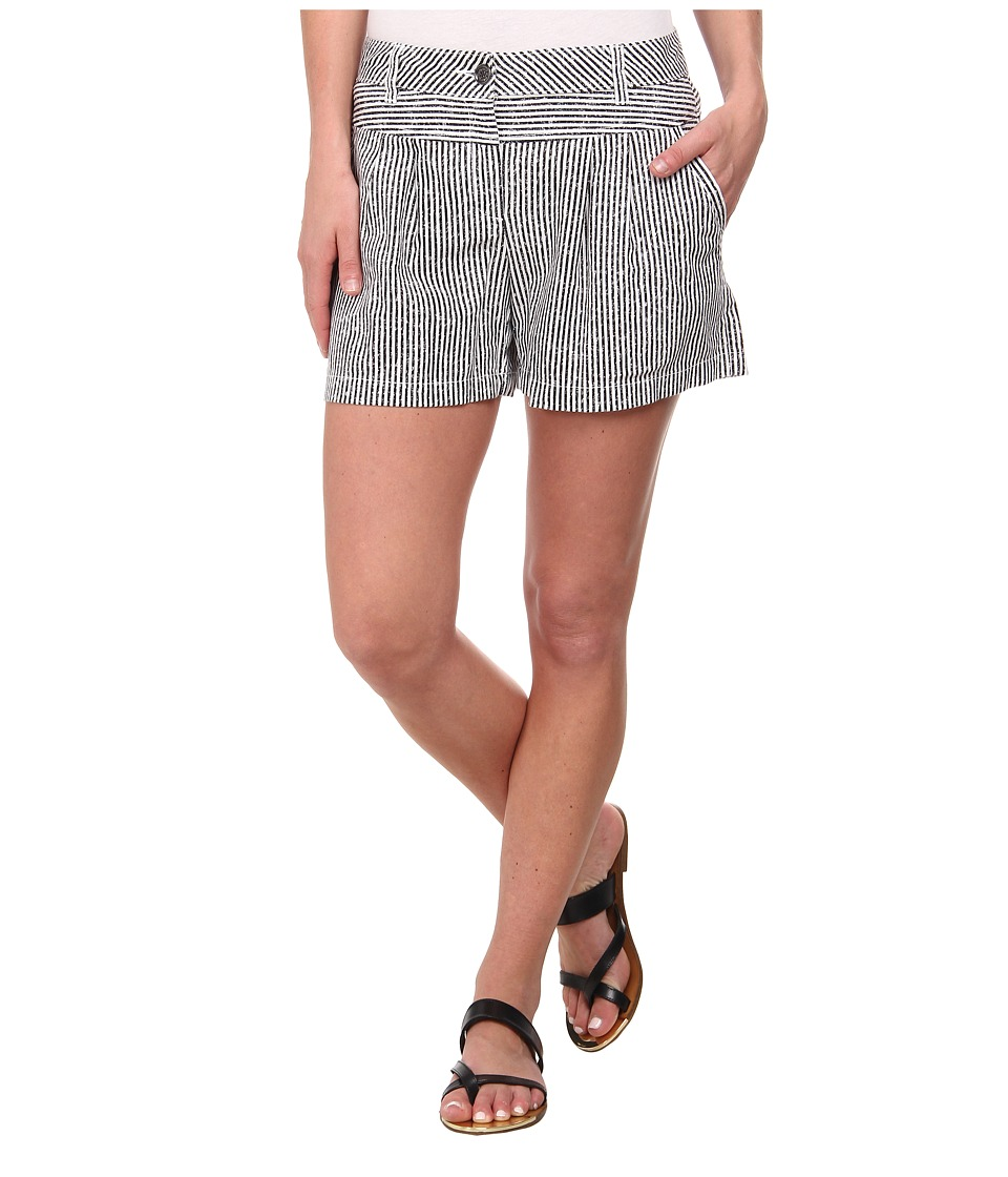 TWO by Vince Camuto - Printed Stripe Four-Pocket Shorts (Rich Black) Women's Shorts
