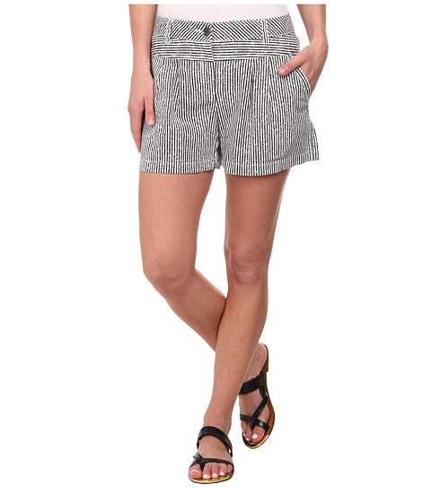 TWO by Vince Camuto - Printed Stripe Four-Pocket Shorts (Rich Black) Women