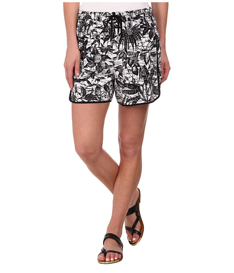 TWO by Vince Camuto - Jungle Escape Midi Drawstring Shorts (Ultra White) Women
