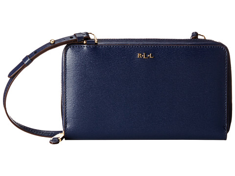 LAUREN by Ralph Lauren - Tate Multi Functional Crossbody (Navy/Cocoa) Cross Body Handbags