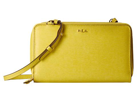 LAUREN by Ralph Lauren - Tate Multi Functional Crossbody (Canary/Cocoa) Cross Body Handbags