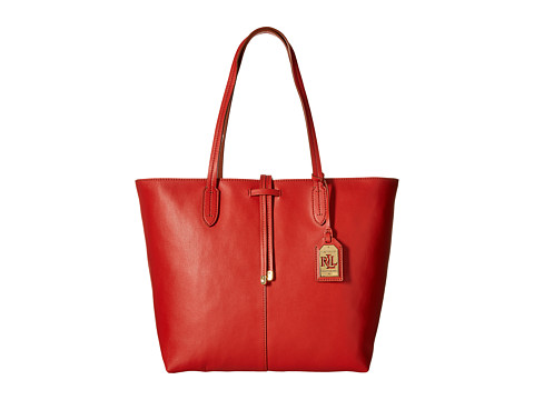 LAUREN by Ralph Lauren - Crawley Unlined Tote (Dark Mandarin/Lauren Tan) Tote Handbags